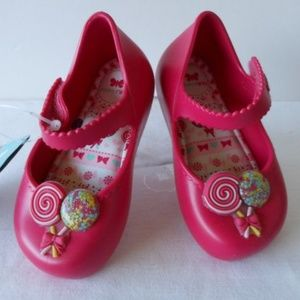 Zaxy Shoes - 'PICNIC' Pink Soft Mary Jane Jelly Flats